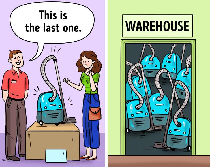 Persuasive shop assistants